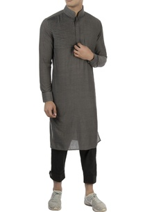 grey-kurta-with-pleated-panel