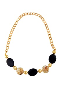 black-gold-stud-statement-necklace