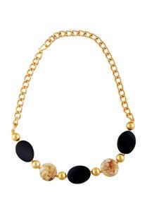 black-gold-stud-statement-necklace
