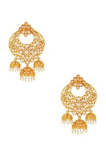 white-gold-jhumka-earrings