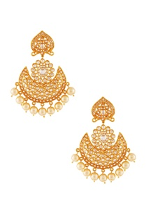 white-gold-chaandbali-earrings