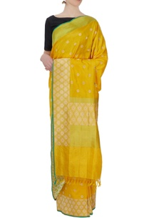 yellow-silk-sari-with-blouse-piece
