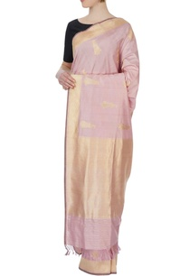 light-pink-sari-with-blouse-piece