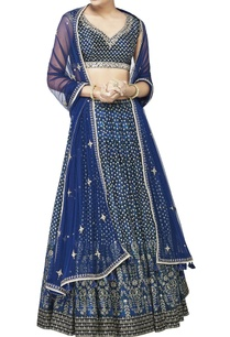 blue-chanderi-silk-lehenga-set