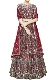 ruby-chanderi-silk-lehenga-set