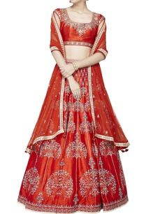 orange-silk-embroidered-lehenga-set