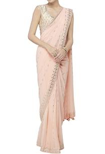 peach-sari-with-blouse