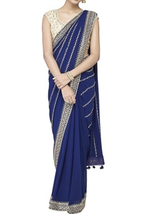 blue-embroidered-sari-with-blouse-petticoat-piece