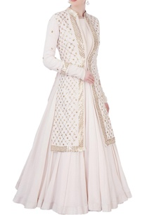 off-white-flared-anarkali-jacket-set