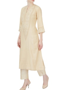 beige-embroidered-kurta-pants