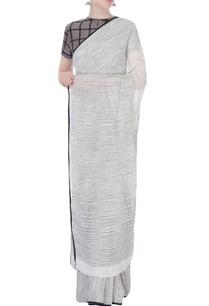 white-hand-woven-linen-sari