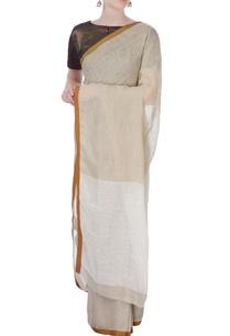 white-traditional-linen-sari