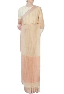 beige-sari-with-twill-border