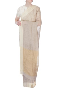 off-white-pure-linen-sari
