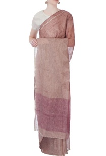 pink-linen-sari-in-ombre-pattern