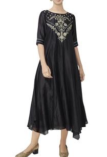 black-chanderi-asymmetric-tunic