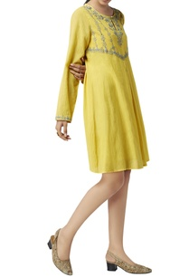 mustard-sequin-embroidered-tunic