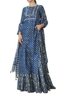blue-printed-kurta-skirt-dupatta-set