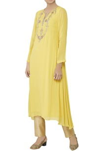 mustard-embroidered-tunic