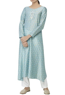 powder-blue-silk-tunic