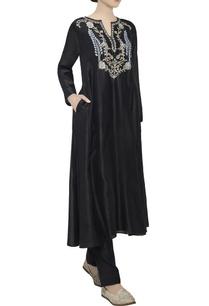 black-chanderi-silk-tunic