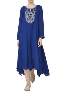 blue-asymmetric-georgette-tunic