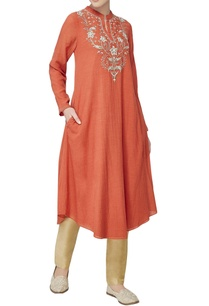 rust-orange-kurta-in-sequin-embroidery