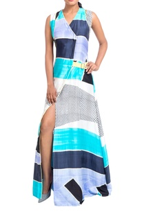 multicolored-wrap-style-dress