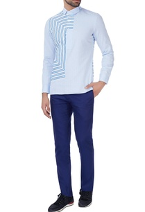 blue-striped-panel-shirt