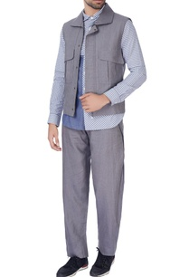 slate-grey-linen-nehru-jacket