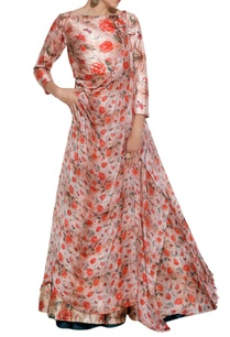 red-floral-printed-lehenga-drape-jacket