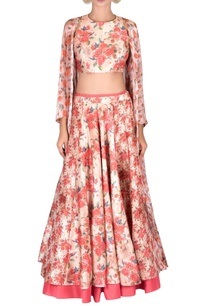 pink-two-layer-silk-lehenga