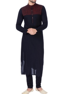 black-textured-yoke-panel-kurta