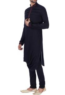black-draped-style-rayon-kurta