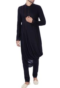 black-box-pleated-draped-kurta