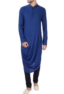 blue-box-pleated-draped-kurta
