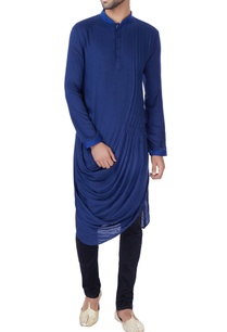 blue-cowl-draped-kurta