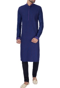 blue-textured-with-anchoring-kurta