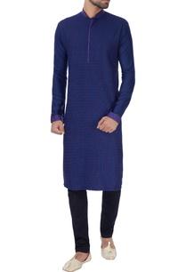 blue-textured-with-anchoring-kurta