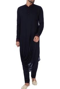 black-draped-rayon-kurta