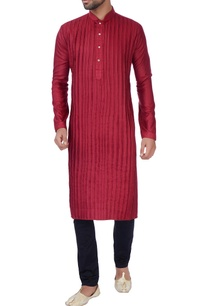 red-box-pleated-kurta