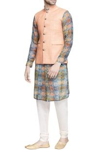 light-orange-matka-silk-jacket