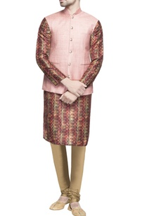 light-pink-matka-silk-jacket