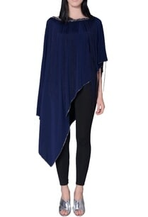 navy-blue-asymmetric-fringe-cape