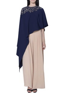 navy-blue-asymmetric-embellished-cape