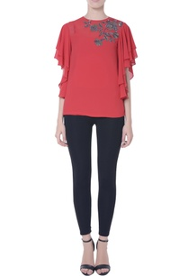 coral-red-blouse-in-sequin-embellishments