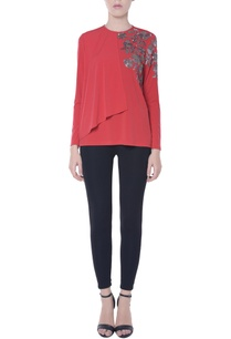 red-ruffle-flap-style-top
