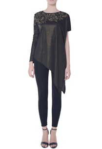 metallic-black-shimmer-blouse