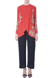 coral-red-double-layer-top