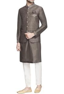brown-embroidered-nehru-jacket
